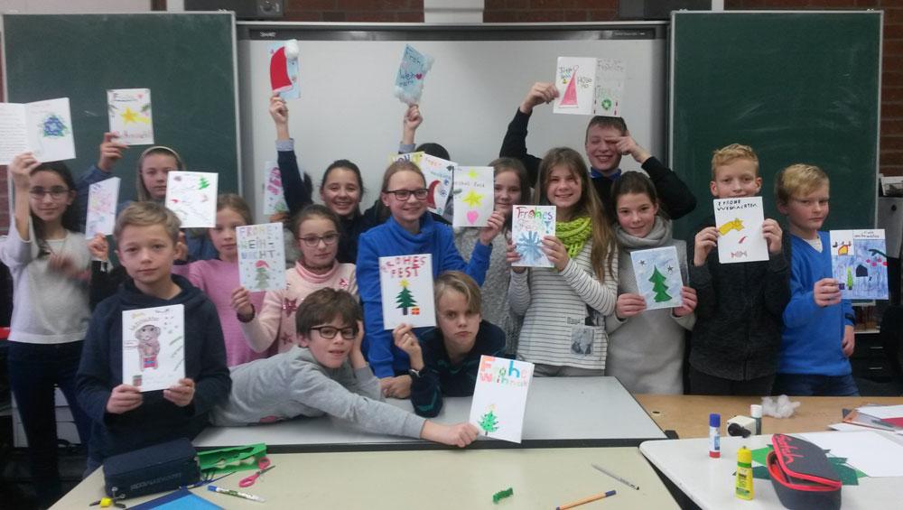 Heinrich Schliemann Gymnasium Fürth: Weihnachtsaktion der 5. Klasse